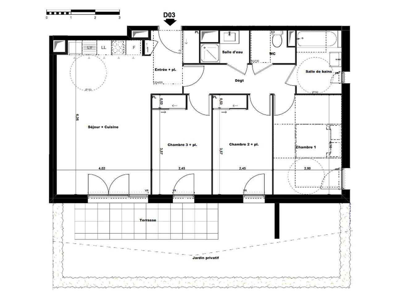 plan appartement 58m2